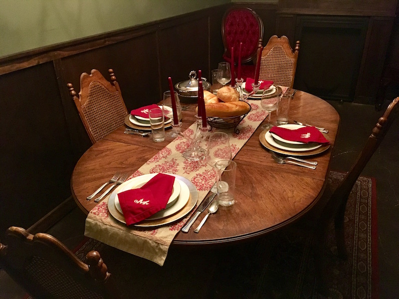 In-game: A beautifully staged dining table.
