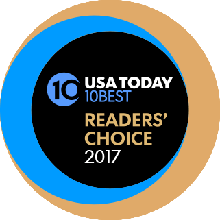 USA Today 10 Best Readers' Choice 2017 logo.