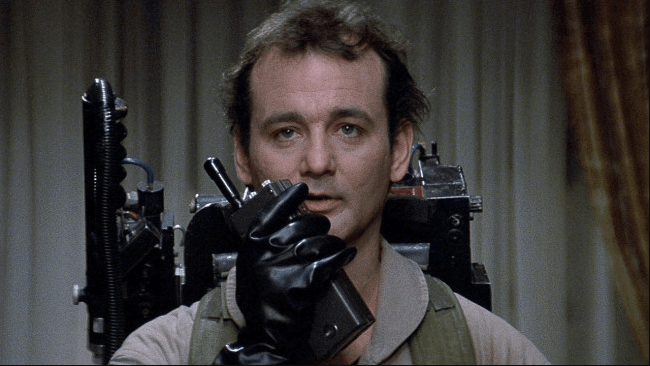 Dr. Venkman on a walkie-talkie from the original Ghostbusters