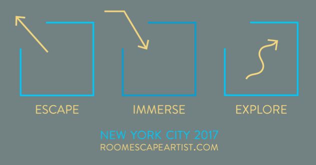 Escape Immerse Explore 2017 Chart logo