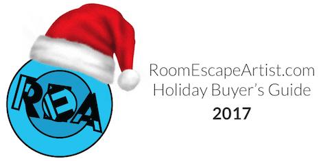 REA logo wearing a Santa hat.