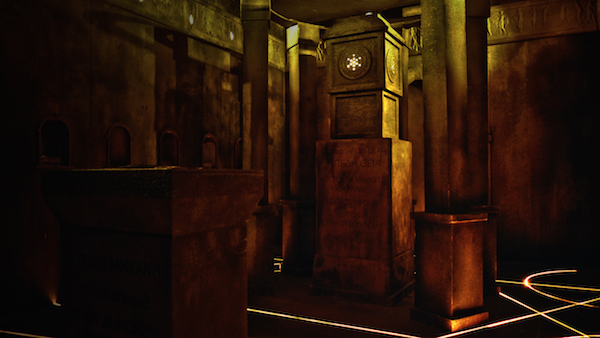 In-game: An intricate and aged tomb or temple.