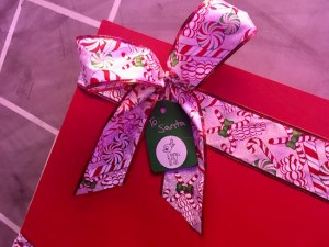 "In-game: a wrapped christmas present labeled ""To Santa"""