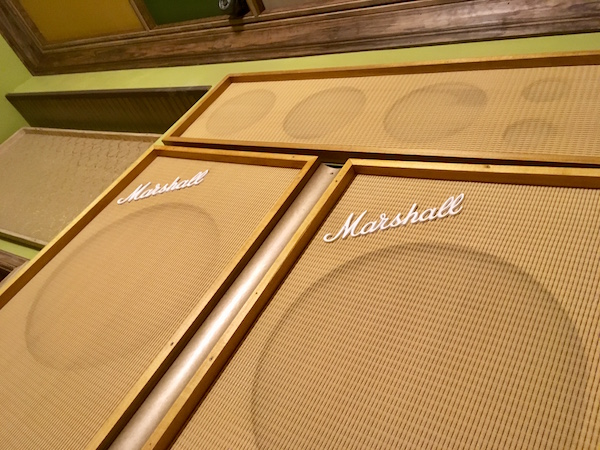 In-game: A massive stack of blonde Marshall amps.