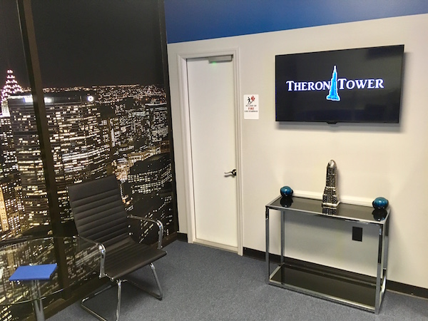 In-game: The Theron Tower office. It looks very corporate.