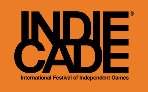 The IndieCade black & orange logo.