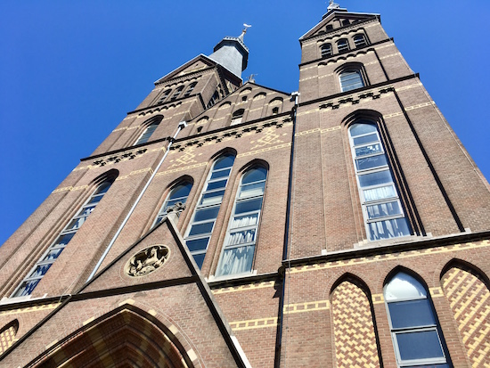 Exterior of the Posthoorn church at Haarlemmerstraat.