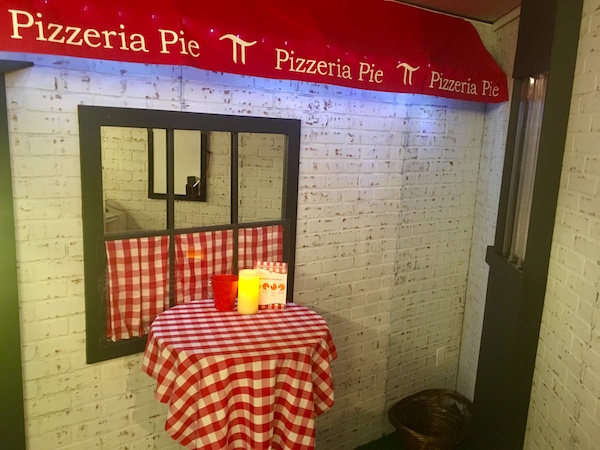 In-game: The Pizzeria Pie mall Italian restaurant.