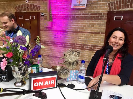 Anna-Maria Giannattasio recording at Up The Game.