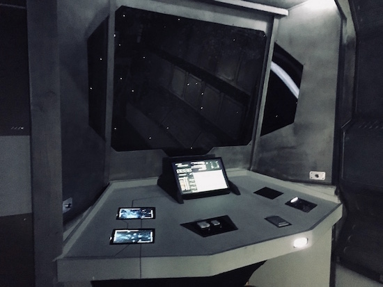 In-game: the bridge and command console.