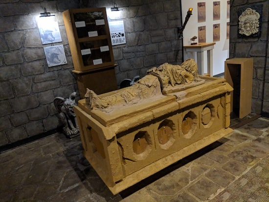 The crypt in the Museum of Intrigue.