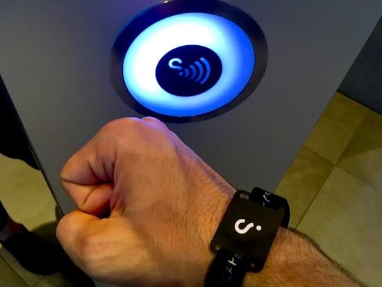 Censor and RFID bracelet.