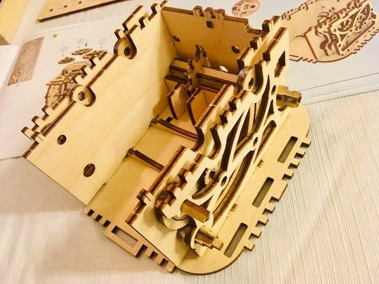 Partially assembled treasure box.