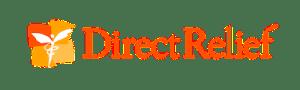 Direct Relief's orange logo.