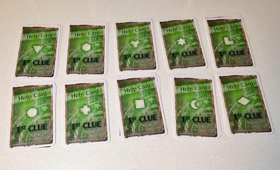 An assortment of help cards.