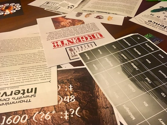 In-game: an assortment of puzzle papers.