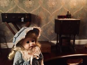 In-game: closeup of a creepy doll.