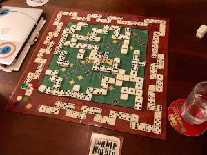 A full board at the end of the game.
