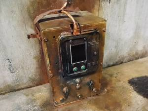In-game: Closeup of an unusual weathered electronic component.