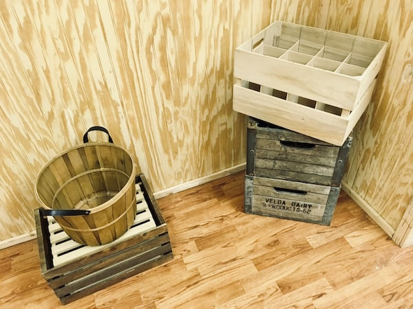 In-game: A few crates and a basket.
