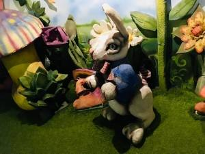 In-game: The White Rabbit in the woods.