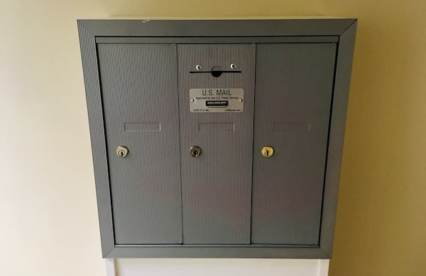 In-game: an apartment building mailbox.