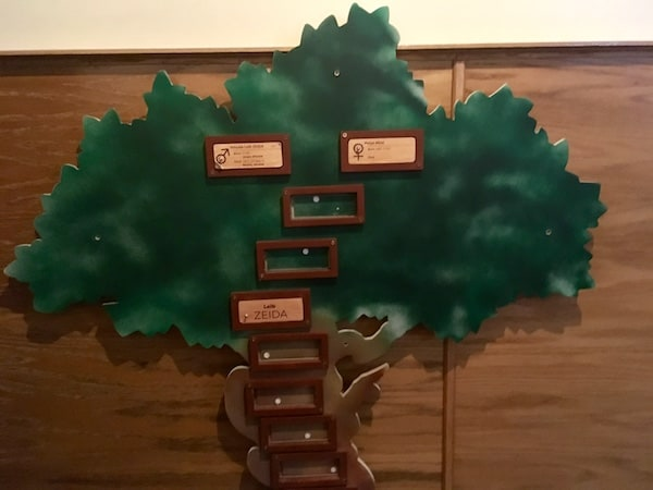 In-game: A partially completed family tree that looks like a tree.