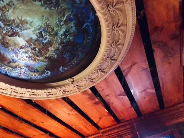 In-game: The ceiling adorned with art.