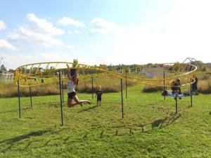 An infinite mobius strip monkey bars.