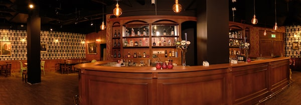 The Mind Palace's wooden bar.