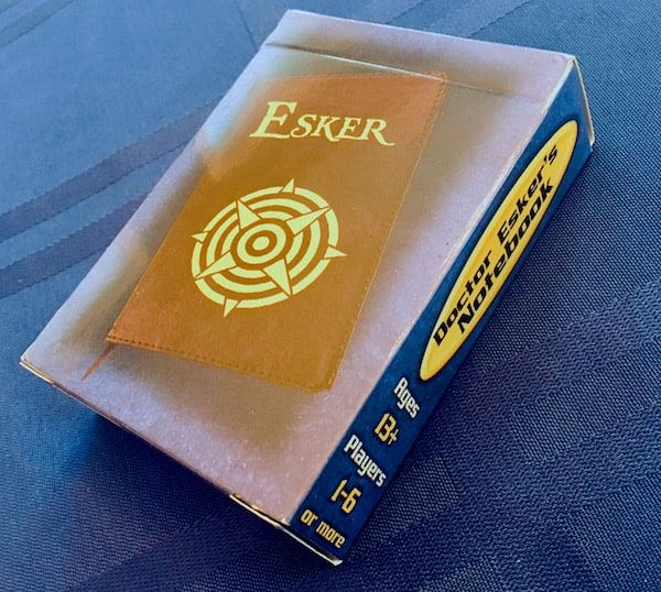 The small card deck sized box for Doctor Esker's Notebook.