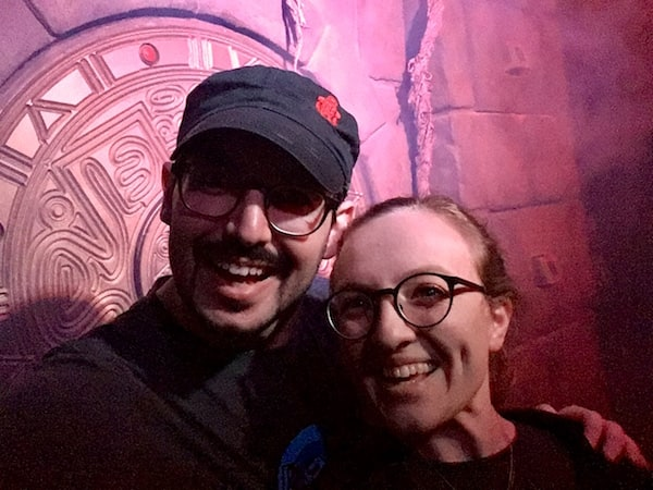 In-game: Lisa & David's selfie inside of the Lost Tomb.