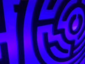 In-game: Closeup of a maze.