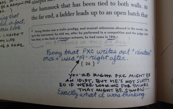 A sample footnote plus margin notes from Ship of Theseus.