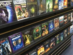 In-game: a collection of DVDs in the sci-fi section.