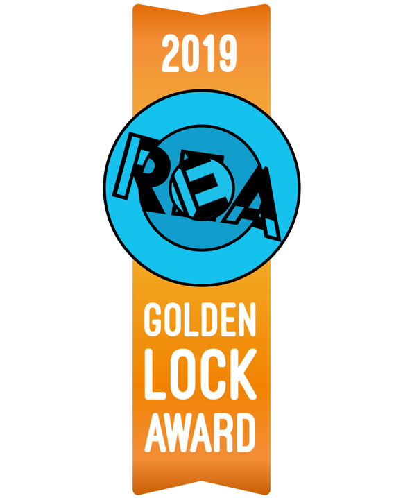 2019 Golden Lock Award Ribbon