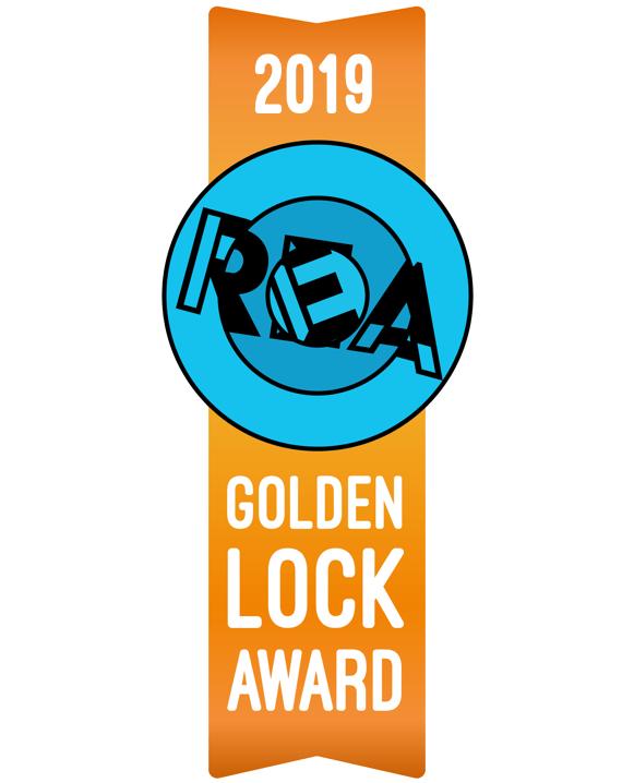 2019 Golden Lock Award Ribbon