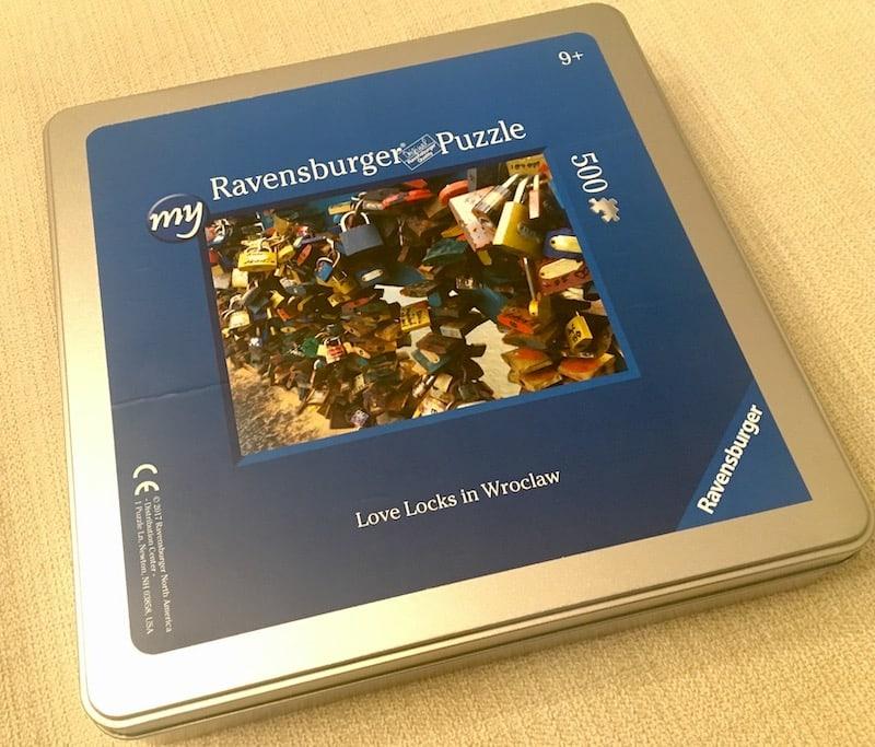 Custom Ravensburger 500 piece puzzle of Love Locks