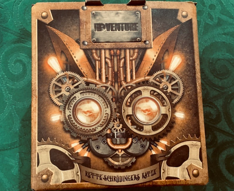 A box with a steampunk mechanical cat.