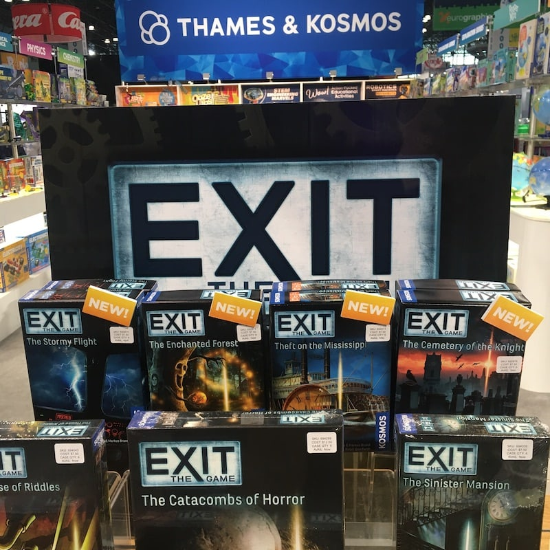 Exit The Game's new 2020 products.