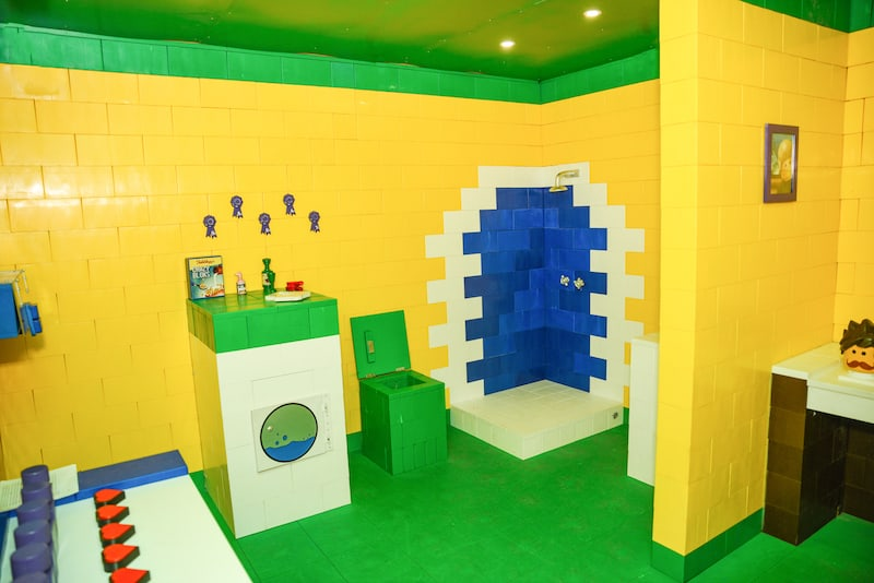In-game: A lego bathroom.