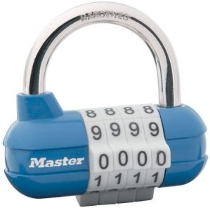 A 4 digit number lock.