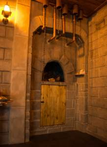 In-game: An oven built into the stone walls of the castle.