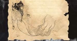 Sketch of a mermaid.