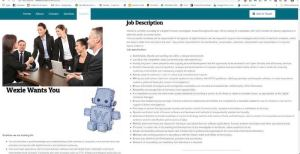 A web page for a corporate job posting.