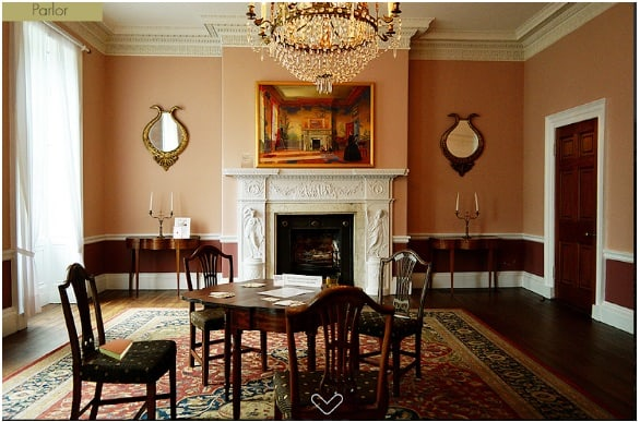 A large room in a stately manor.