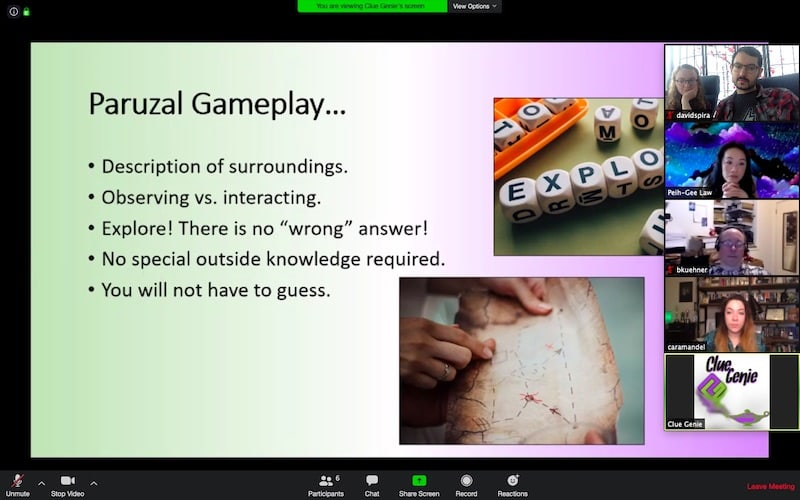 Paruzal gameplay explaination. Desciption of surroundings, observing vs interacting, explore, no special knowledge, no need to guess.