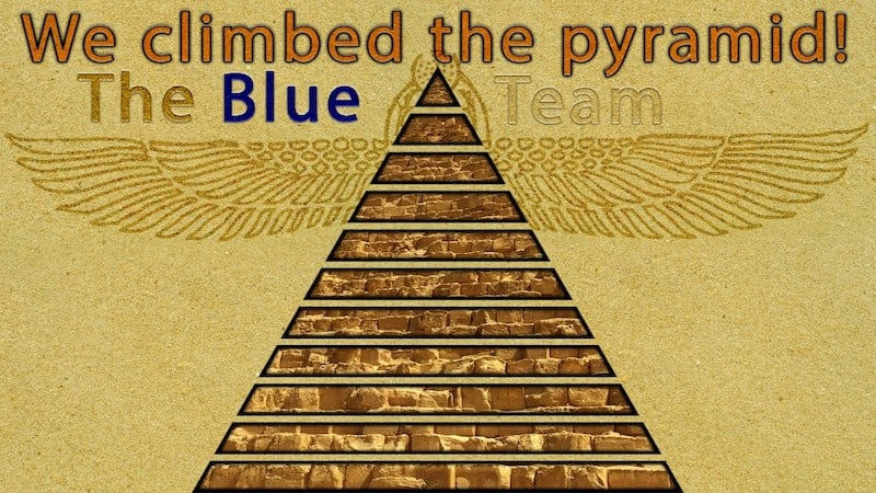 Blut Team climbed the Pyramid!