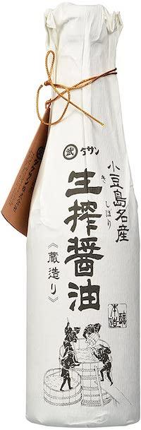 Premium soy sauce bottle.