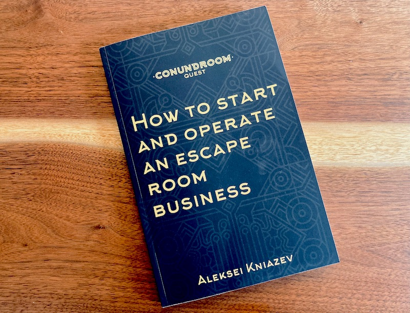Black & gold cover for How to Start and Operation an Escape Room Business